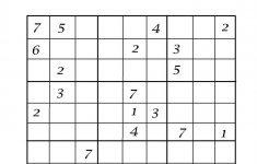 9 By 9 Sudoku Printable