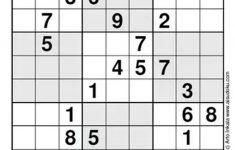 Free Online Printable Sudoku Hard