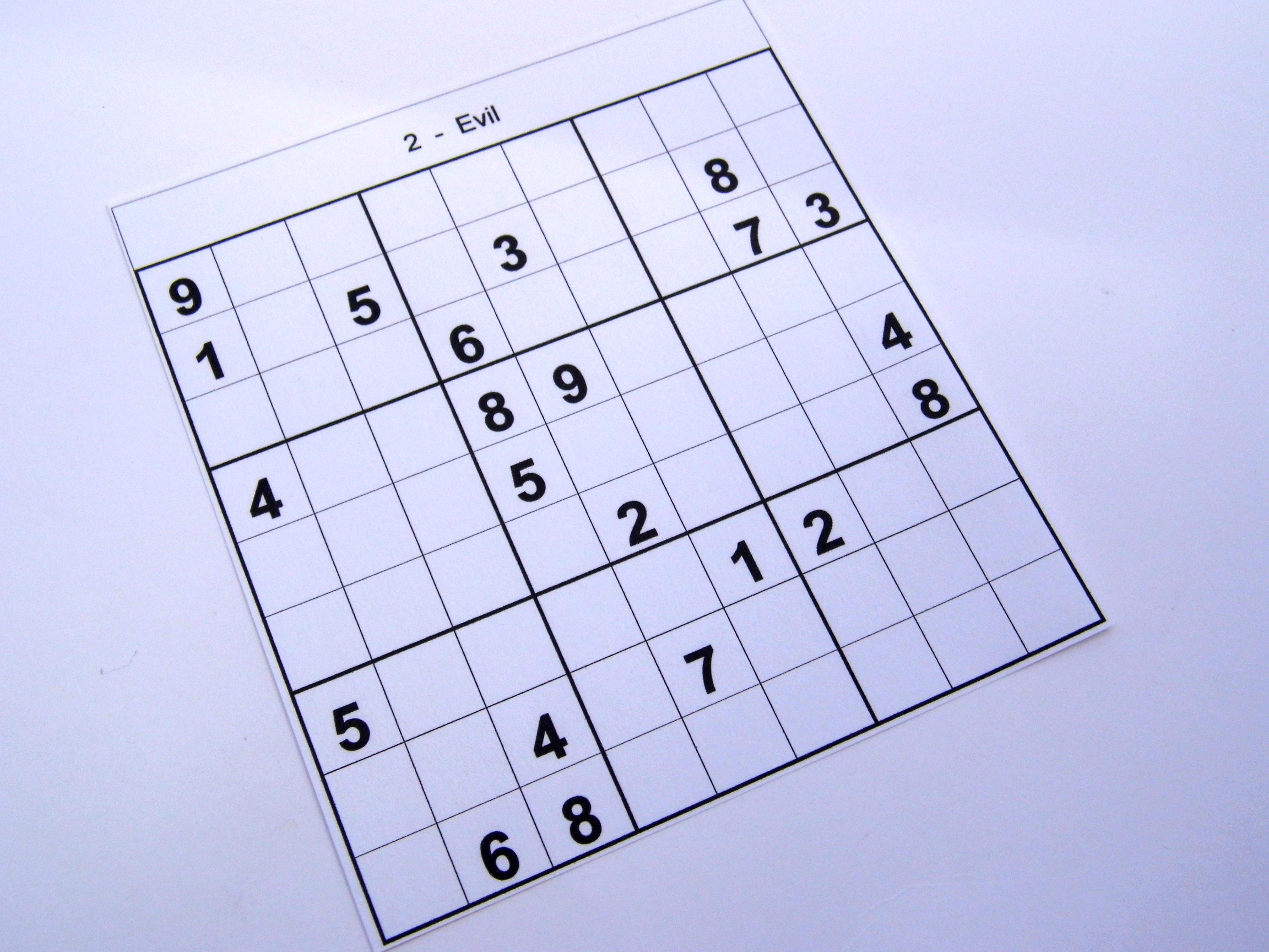Archive Puzzles – 12 Hard Sudoku Puzzles – Books 1 To 10