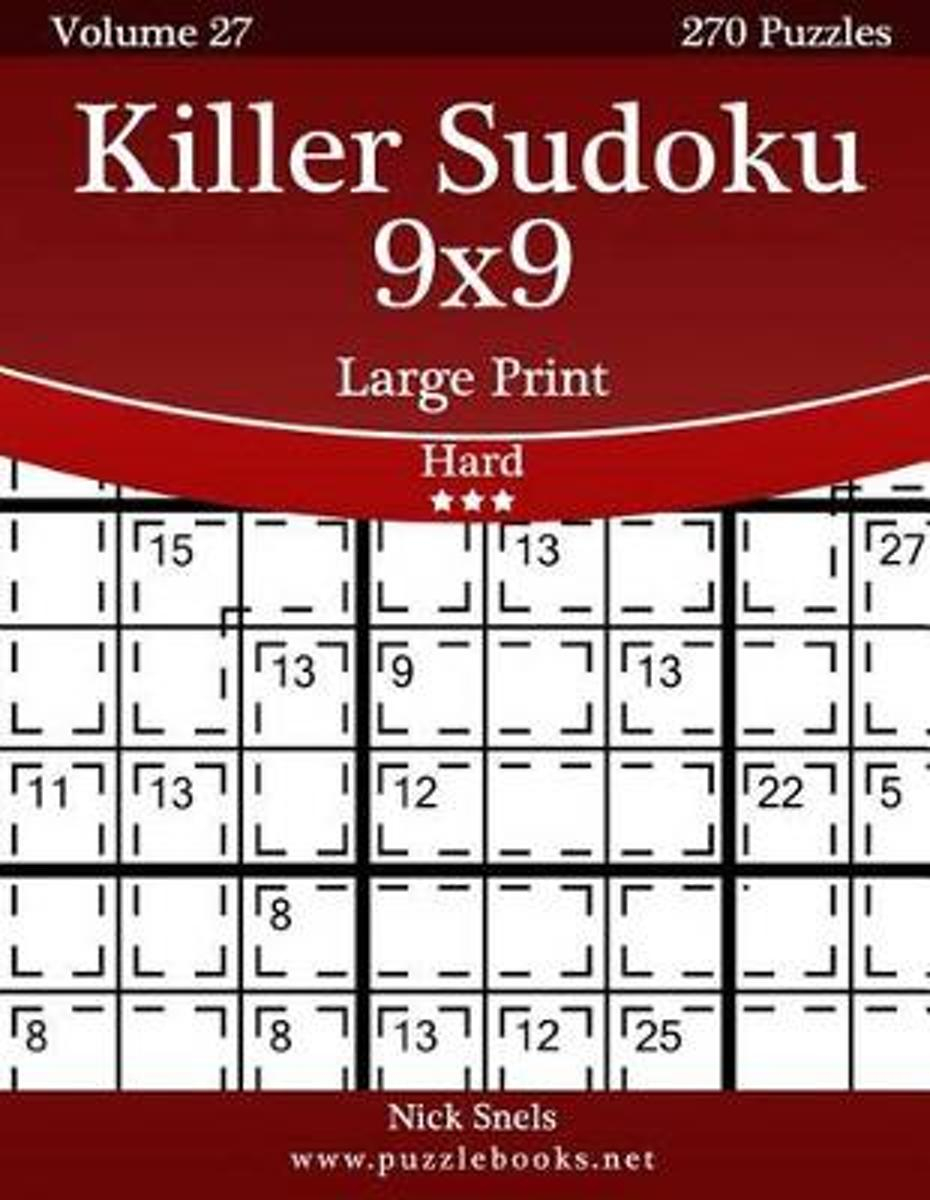 Bol | Killer Sudoku 9X9 Large Print - Hard - Volume 27