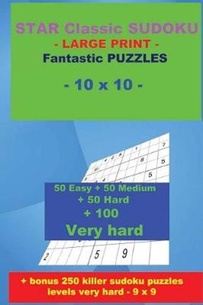 Bol | Star Classic Sudoku - Large Print - Fantastic