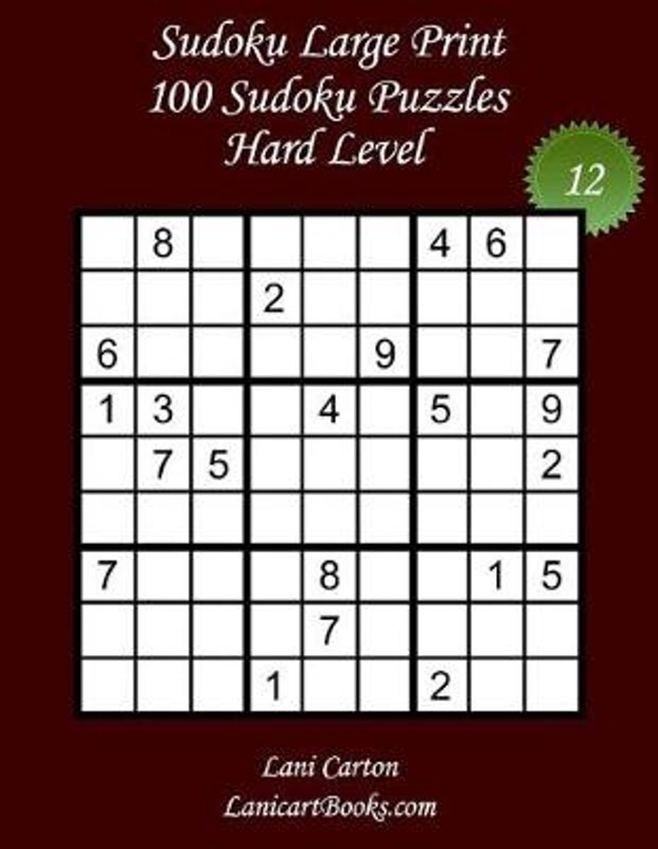Bol | Sudoku Large Print - Hard Level - N 12, Lani