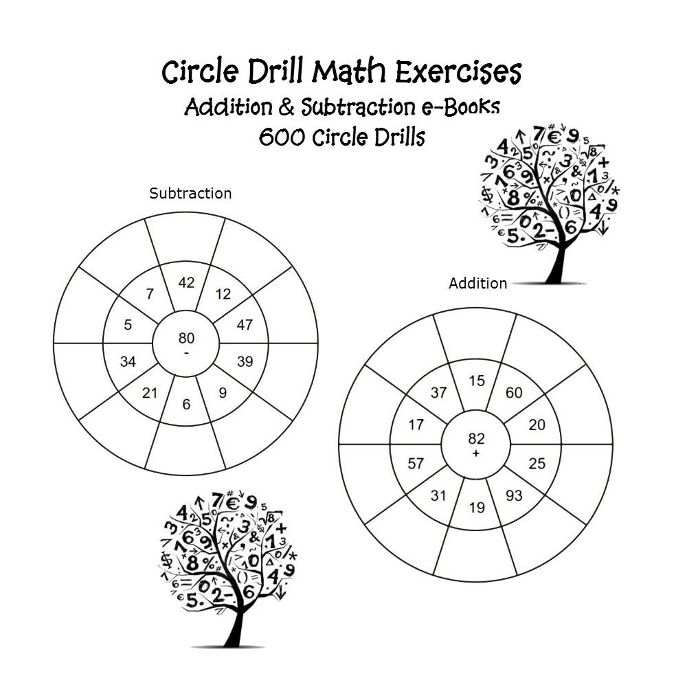 Circle Drill Math Exercises Printable Pdf Worksheets | Math