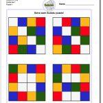 Color Sudoku For Kids | Sudoku, Puzzles For Kids, Sudoku Puzzles