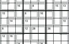 Killer Sudoku Online Printable