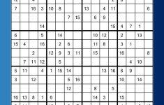 Mega Sudoku 16×16 Printable