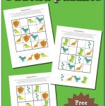 Dinosaur Sudoku Puzzles {Free Printables}   Voor Kinderen