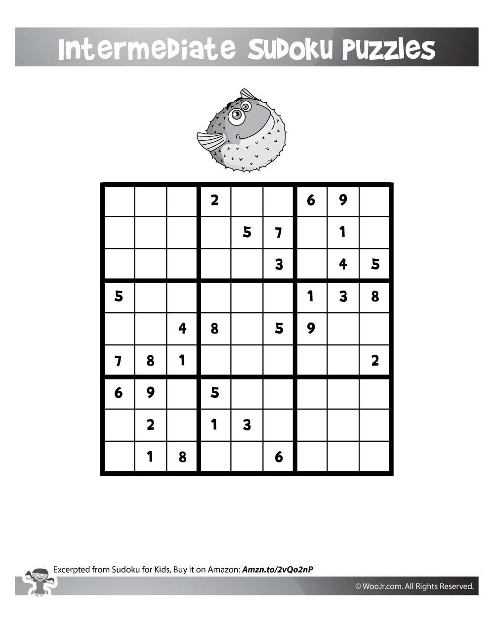 Easy 9X9 Sudoku Puzzles | Woo! Jr. Kids Activities