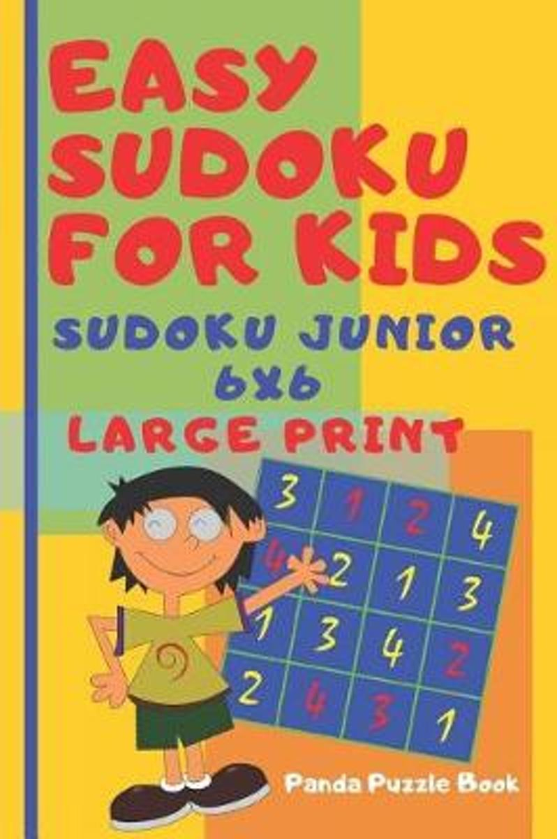 Easy Sudoku For Kids - Sudoku Junior 6X6 - Large Print