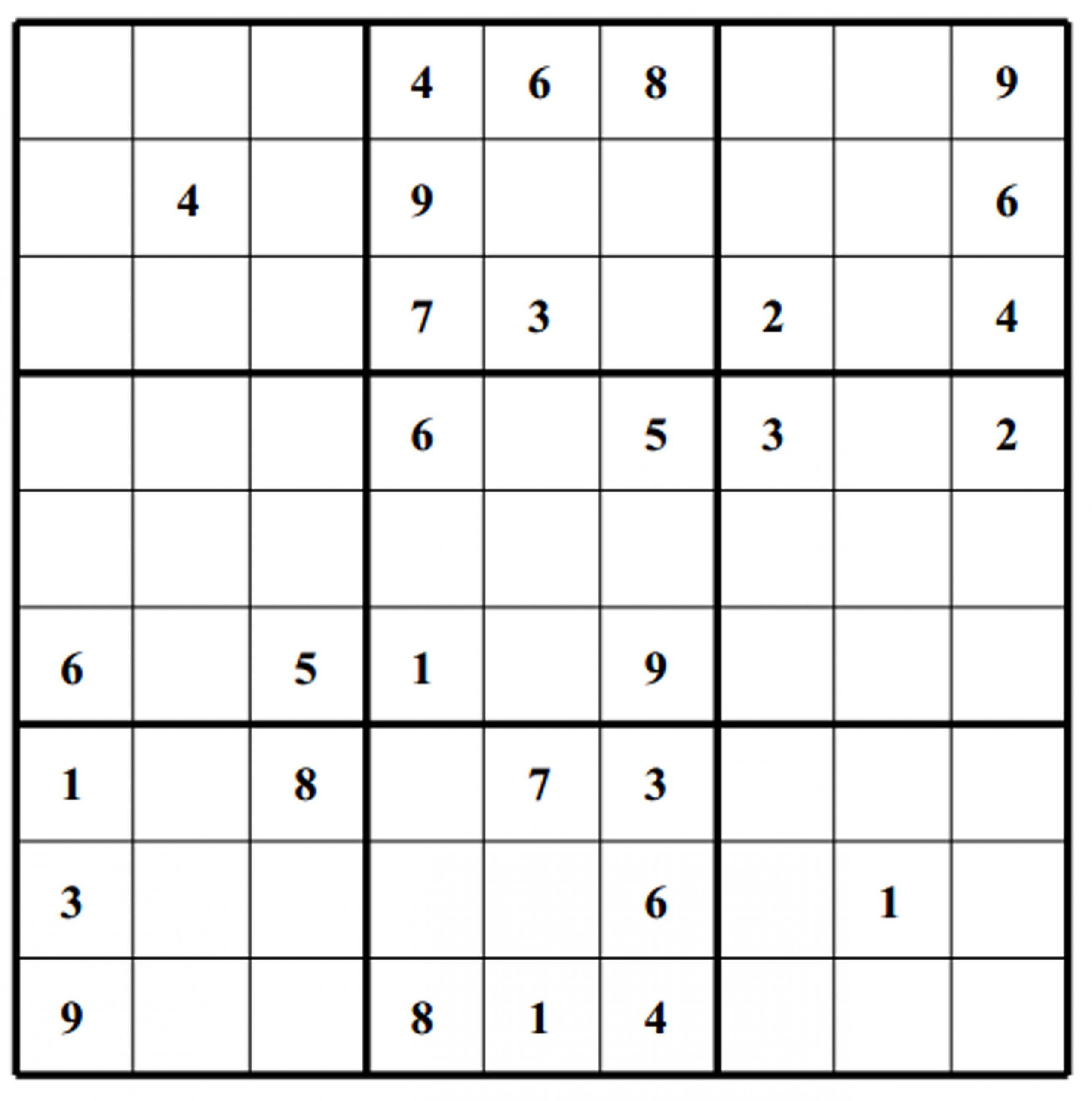 Easy Sudoku Worksheets   Printable Worksheets And Activities