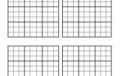 Printable Empty Sudoku