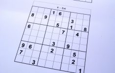 Free Sudoku Printable Evil
