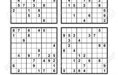 Easy Sudoku Printables 4 Per Page