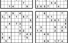 Easy Large Print Sudoku Printable