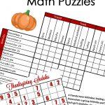 Free} Fun Thanksgiving Math Puzzles For Older Kids