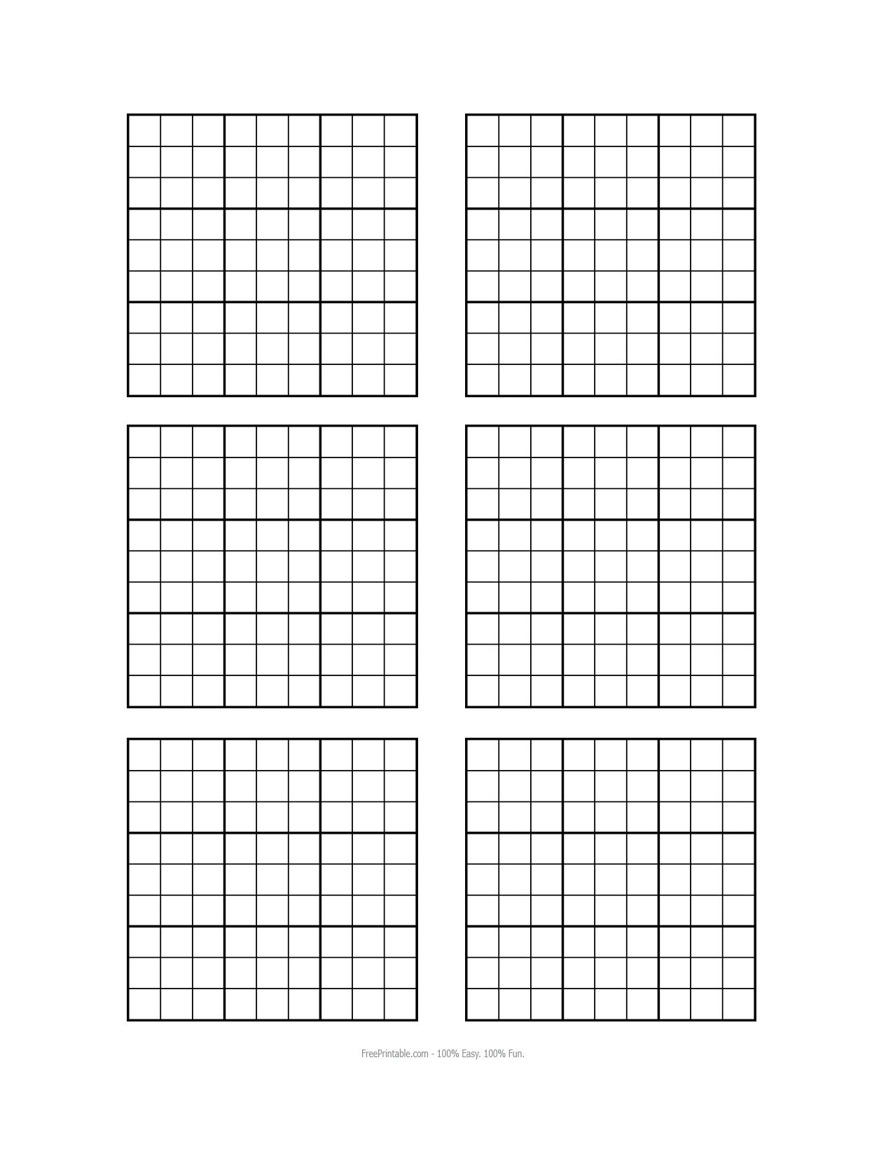 Free Printable Blank Sudoku Grids   Sudoku Printable, Grid