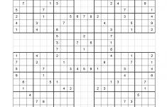 Printable Samori Sudoku Puzzle