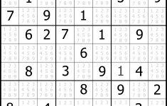 Free Printable Extreme Challenger Sudoku