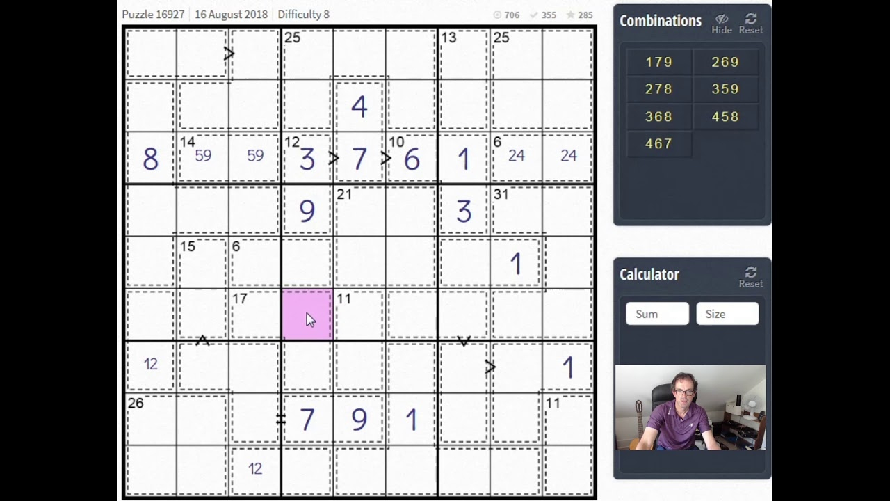 """greater Than Killer Sudoku"": Advanced Tutorial"