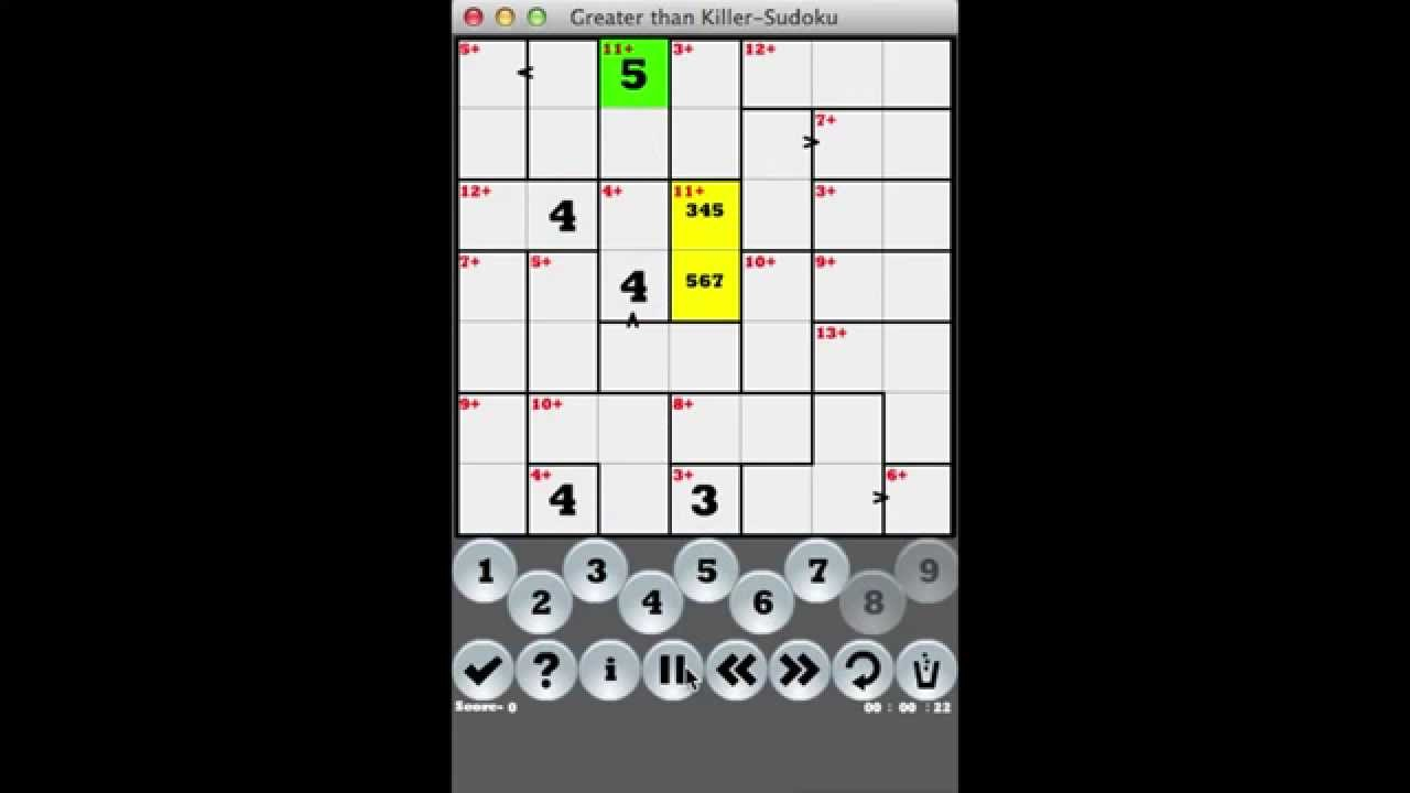 'greater Than Killer Sudoku' On Ios And Android