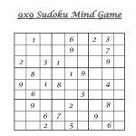 Hard Level Sudoku – Mind Game Printable Sheets For Children