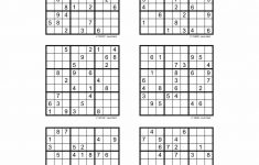 Hard Sudoku Printable 6 Per Page – Printabler