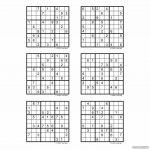 Hard Sudoku Printable 6 Per Page   Printabler
