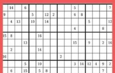 Printable Sudoku Puzzles 16×16