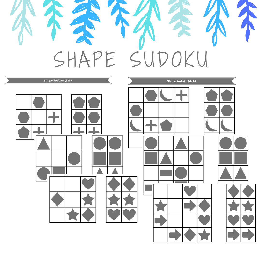 Hi, Here Are A Classic Game Sudoku, With Shapes. Free Pdf