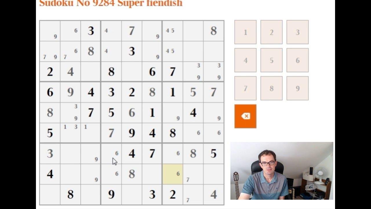 How To Solve The Super Fiendish Sudoku | Sudoku, Sudoku