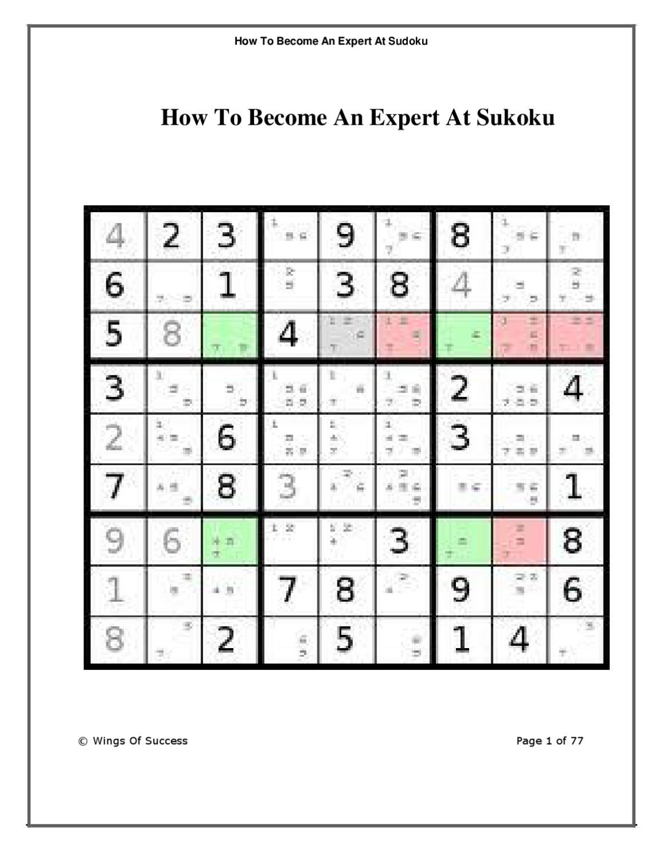 How To Win At Sudokubecky White - Issuu