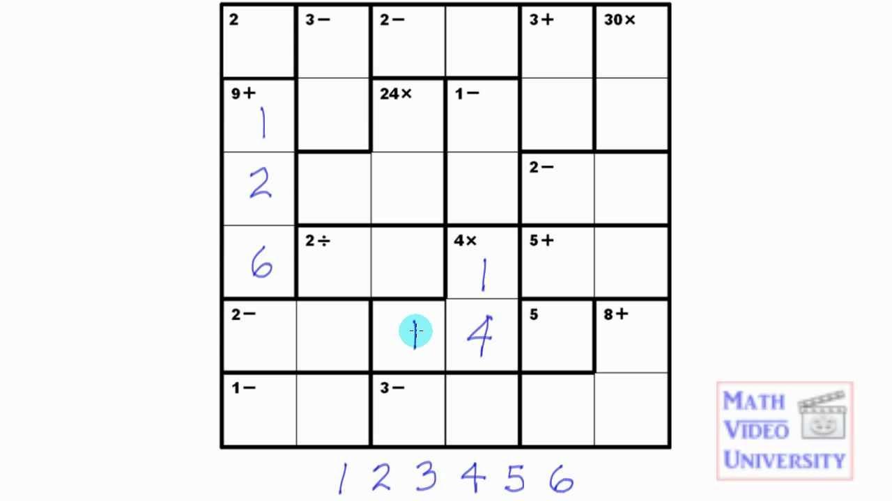Kenken 6X6 Number Sense.mov