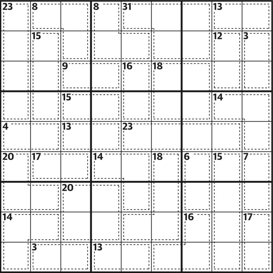 Killer Sudoku 589   Life And Style   The Guardian