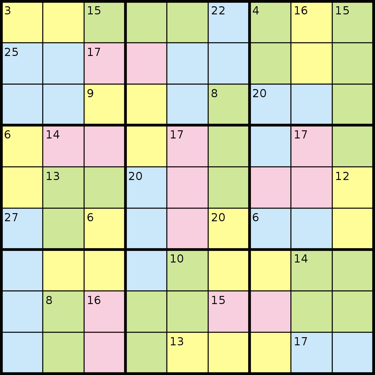 Killer Sudoku - Wikipedia