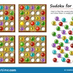Logical Puzzle Game For Children And Adults. Sudoku For Kids