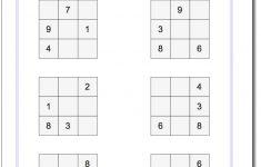 Printable 4×4 Sudoku Puzzles
