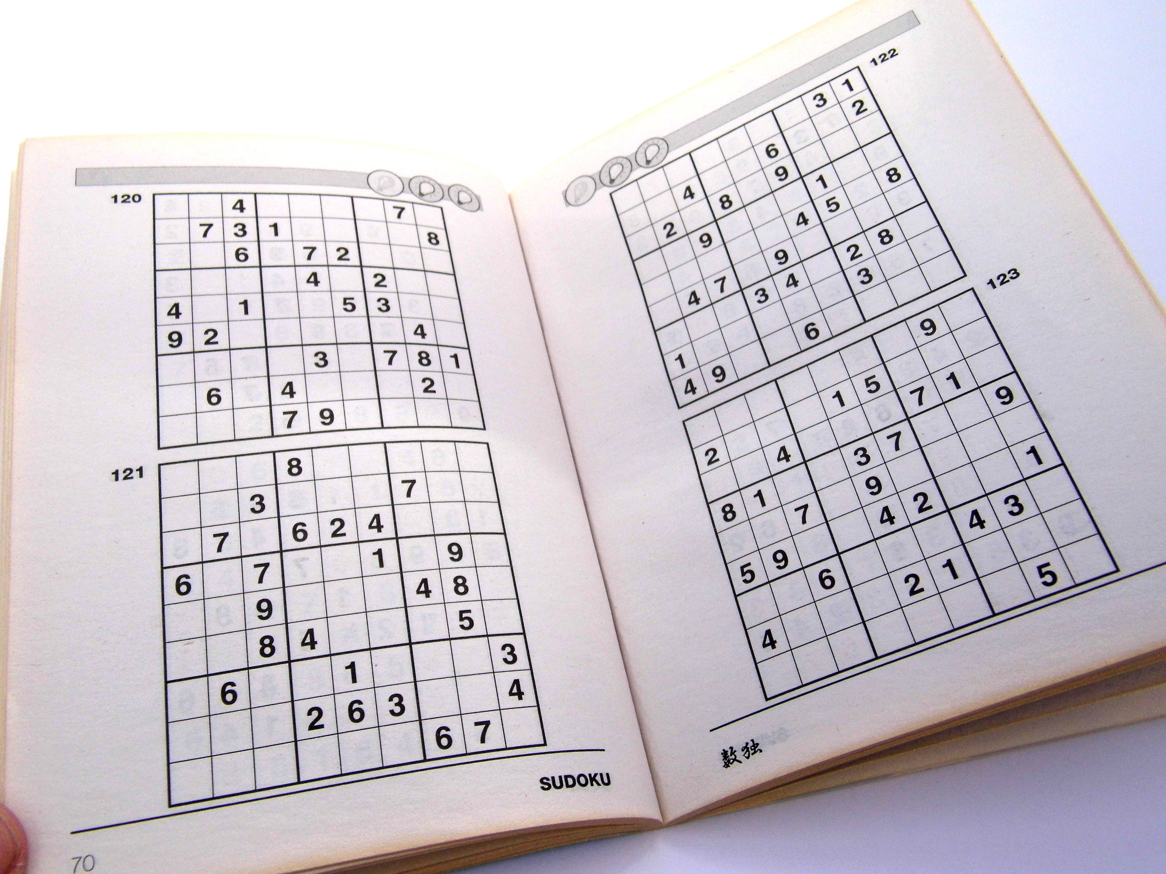 Medium Printable Sudoku Puzzles 2 Per Page – Book 1 – Free