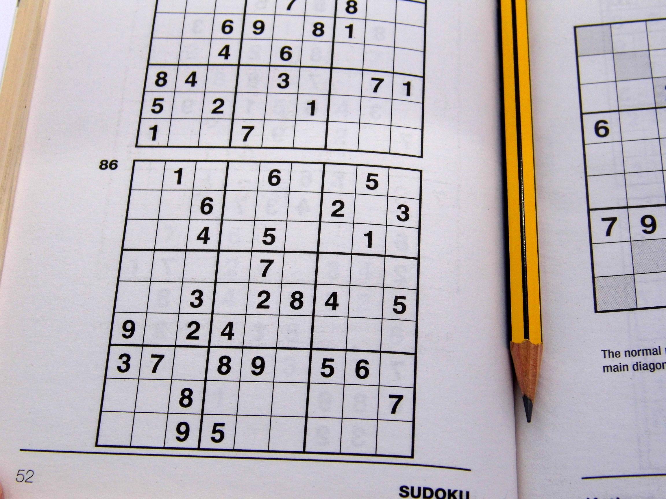 Medium Printable Sudoku Puzzles 6 Per Page – Book 1 – Free