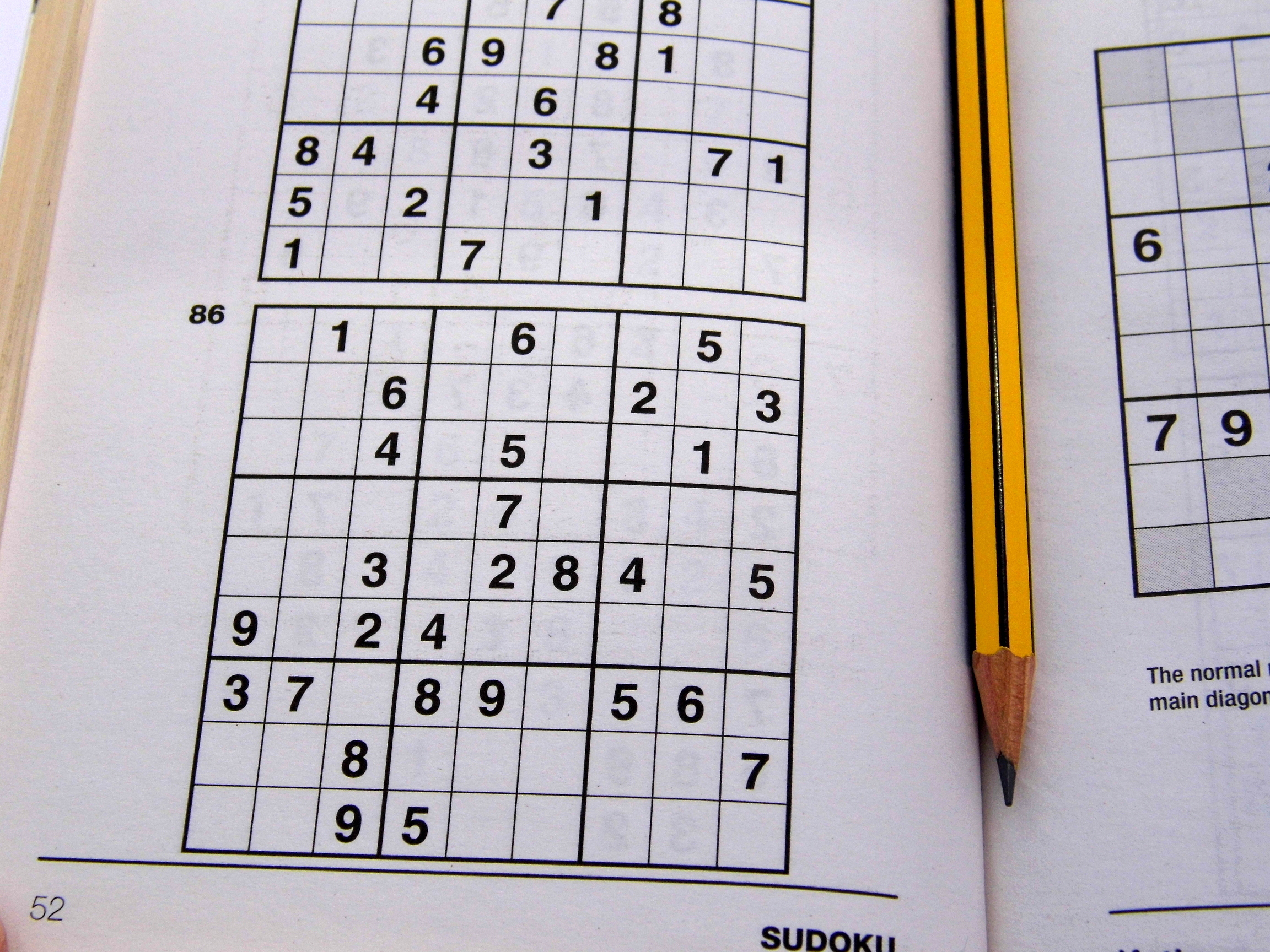 Medium Printable Sudoku Puzzles 6 Per Page – Book 1 – Free