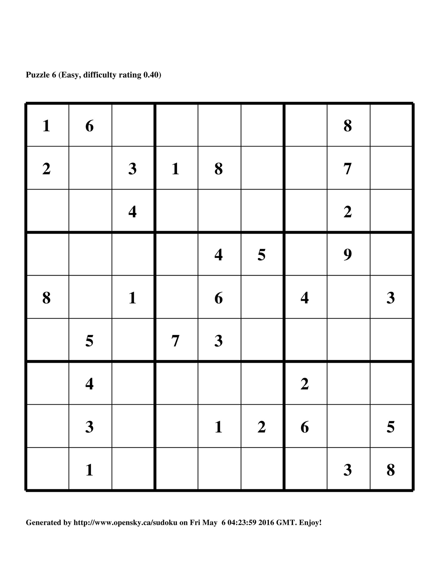 My Publications - Easy Sudoku, Vol. 1 - Page 4-5 - Created