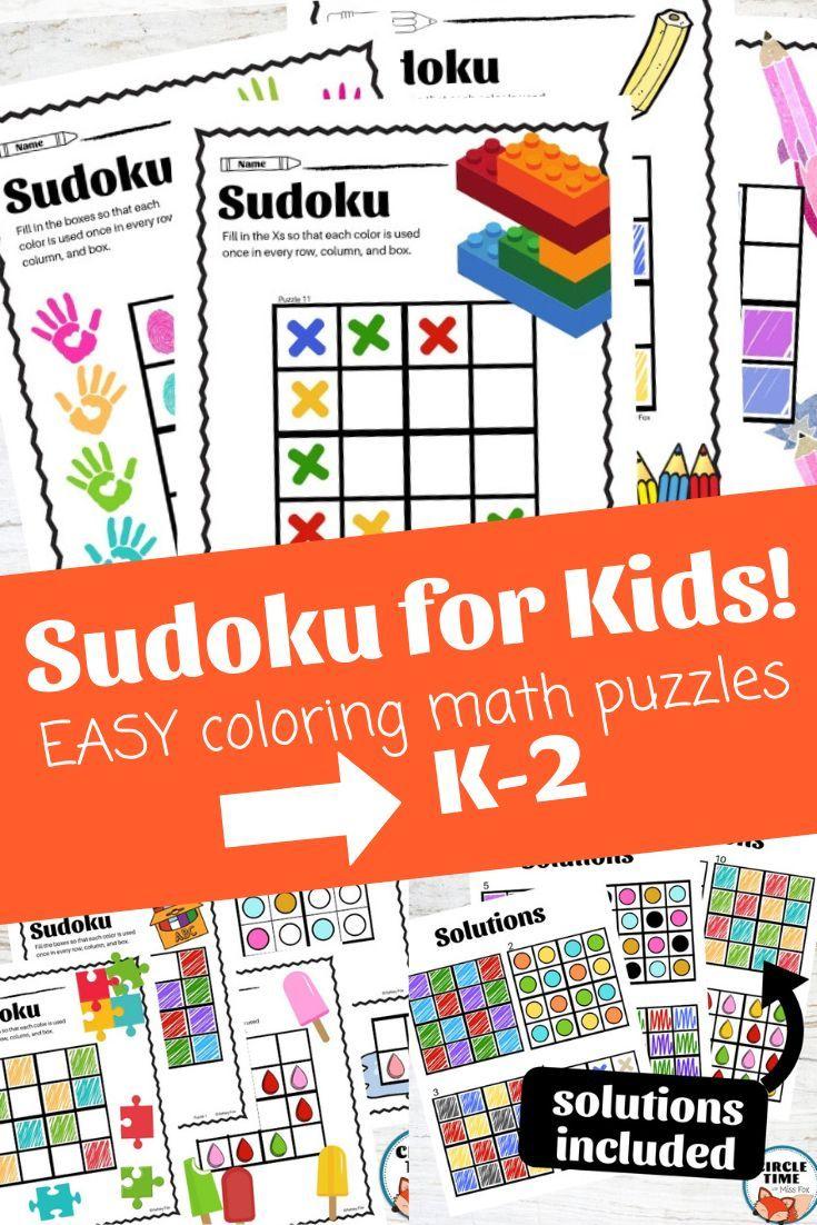 Picture Sudoku Puzzles, Color & Shape Soduko Math, Sodoku