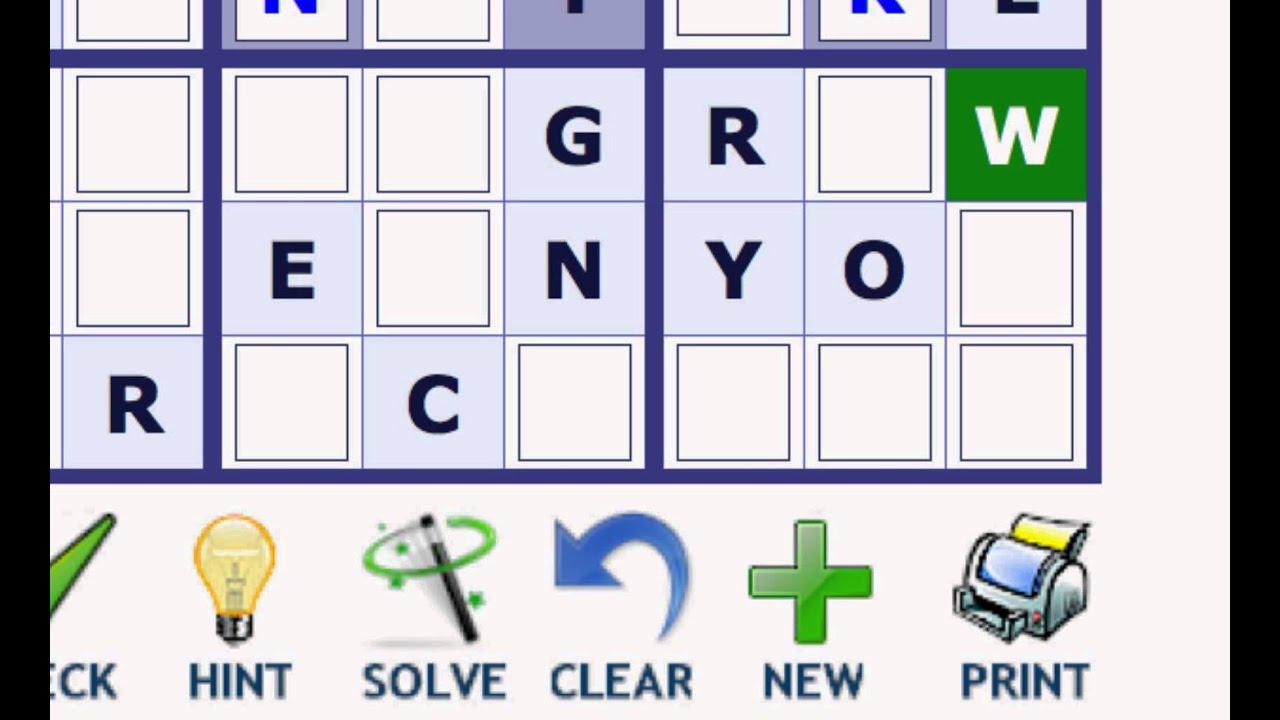 Play Word Sudoku At Wordplays