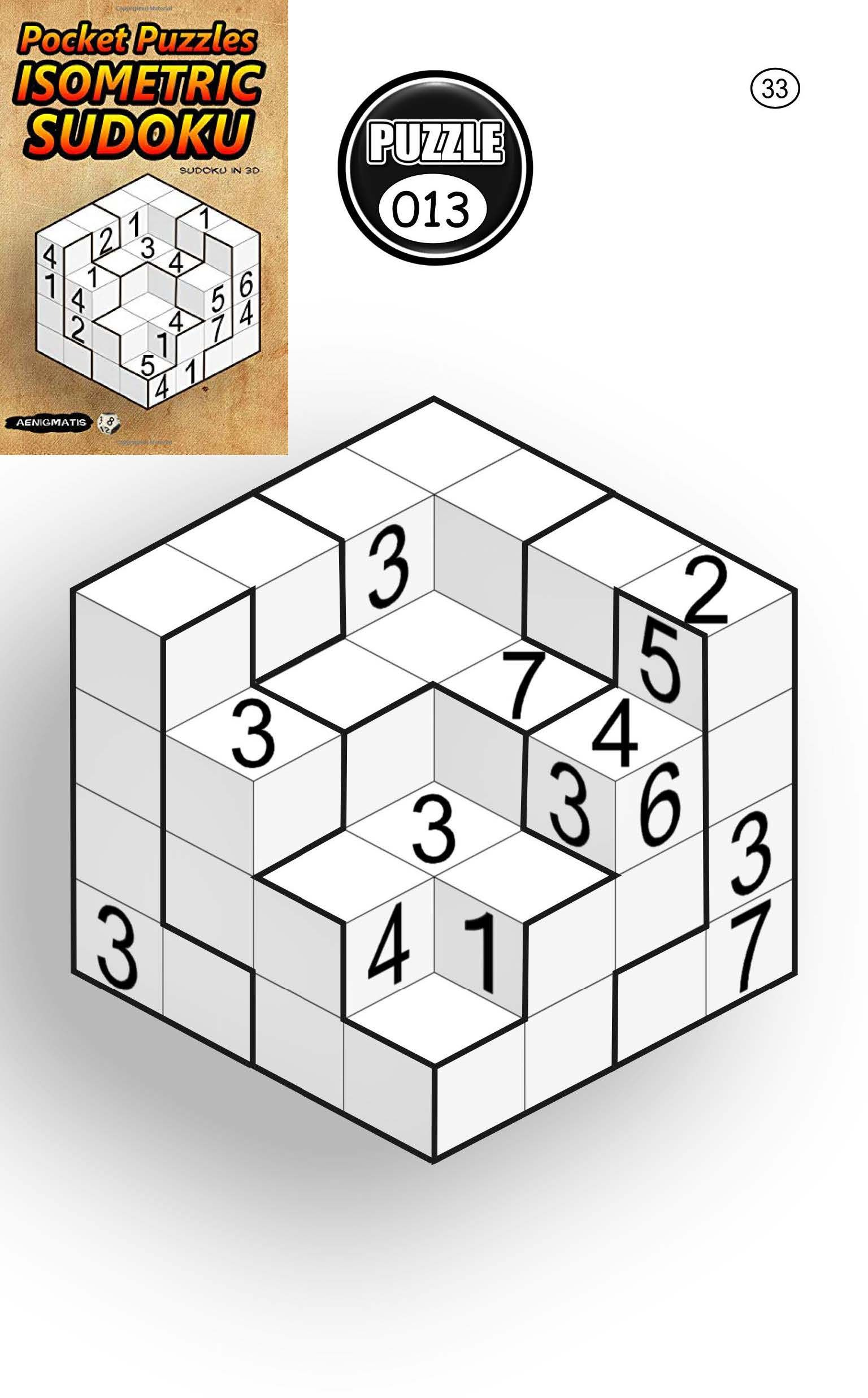 Pocket Puzzles Isometric Sudoku: Sudoku In 3D Amazon