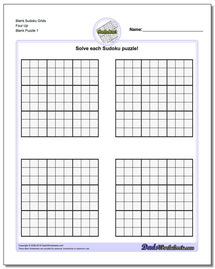 Printable Blank Sudoku Grids | Shop Fresh