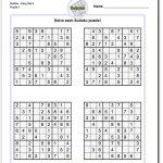 Printable Easy Sudoku | Sudoku, Sudoku Printable, Math