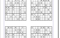 Printable Sudoku Puzzles Of Different Difficulty