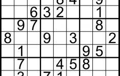 Free Sudoku Printable Easy