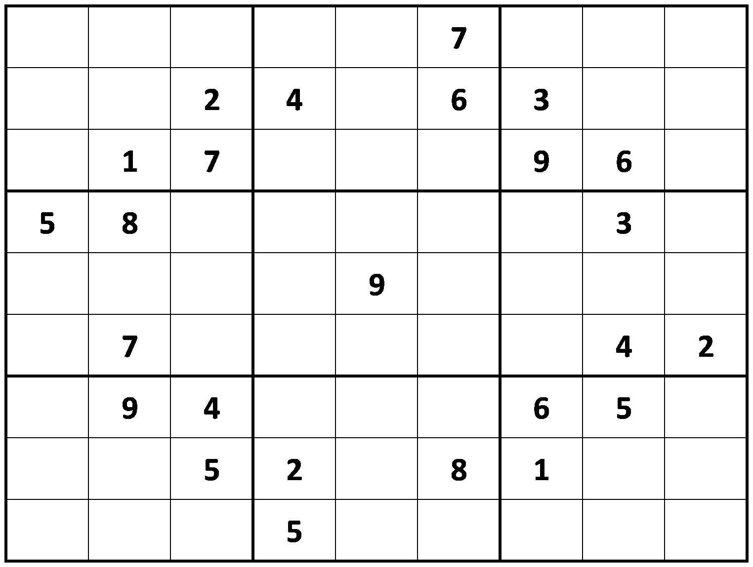Printable Hard Sudoku   Printable - Difficult Sudoku Puzzles