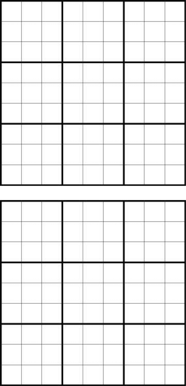 Printable Sudoku Grids - Have Fun Anytime