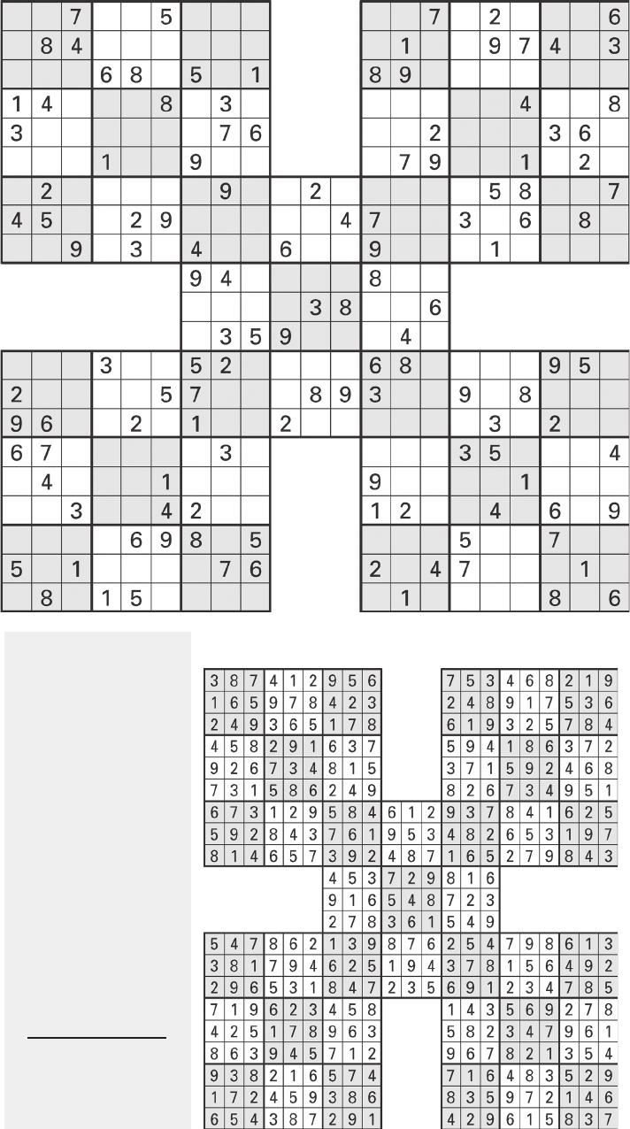 Printable Sudoku High-Five, Aug. 1 - [Pdf Document]